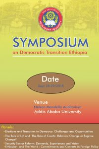 "Conference on  ""Ethiopian Democratic Transition"" @ Nelson Mandela Building"